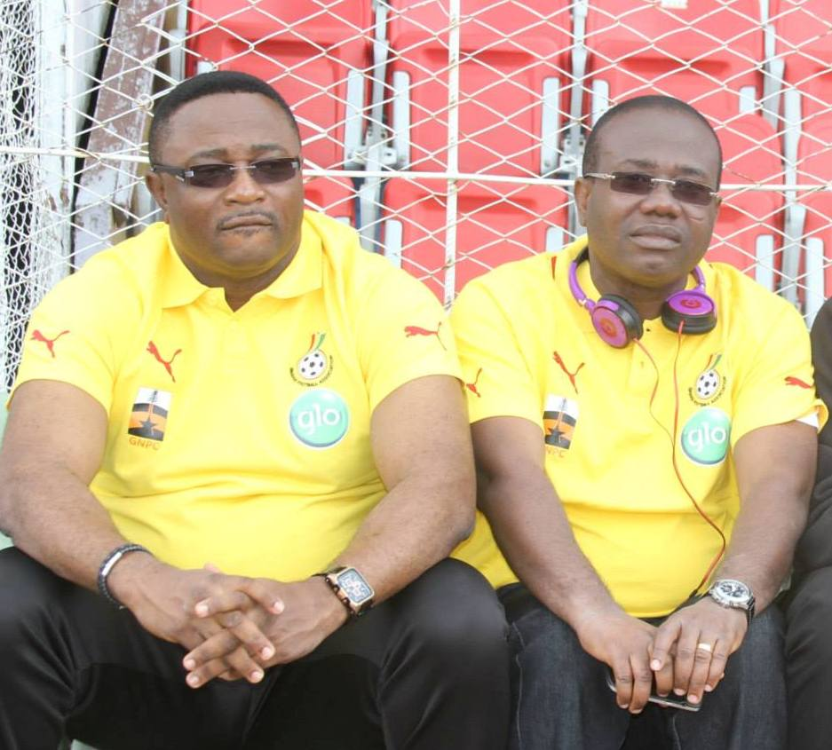 Ghana FA boss Nyantakyi (right) sports minister Afriyie Ankrah (left)