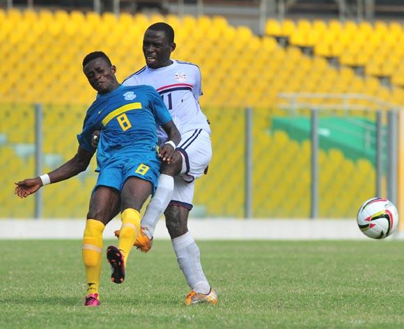Liberty's Tua Khemis marking Wa All Stars Kofi Yeboah.