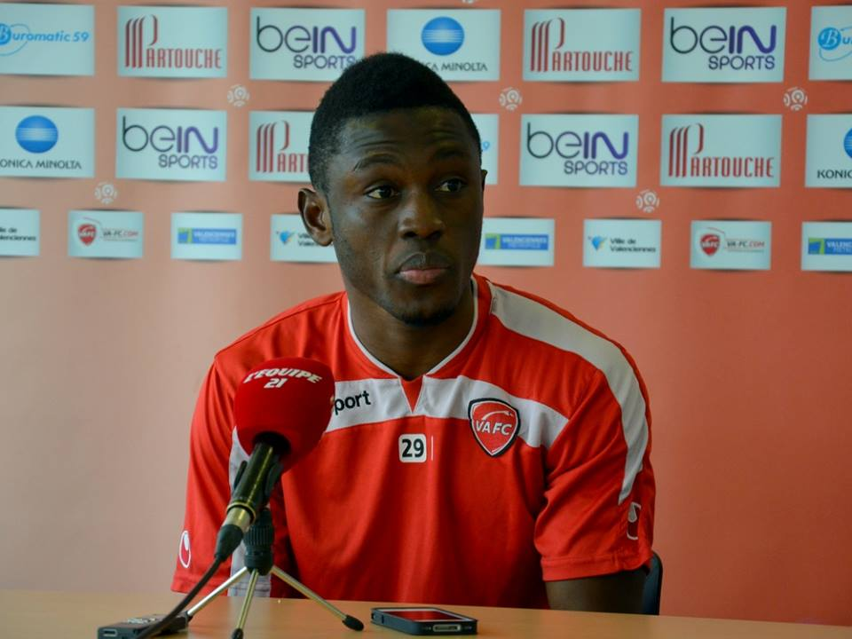 Majeed Waris gets Valenciennes manager Jacobs praises. Photograph: VAFC Facebook