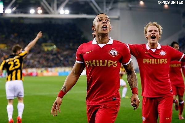 Memphis Depay scored the winner for PSV Eindhoven