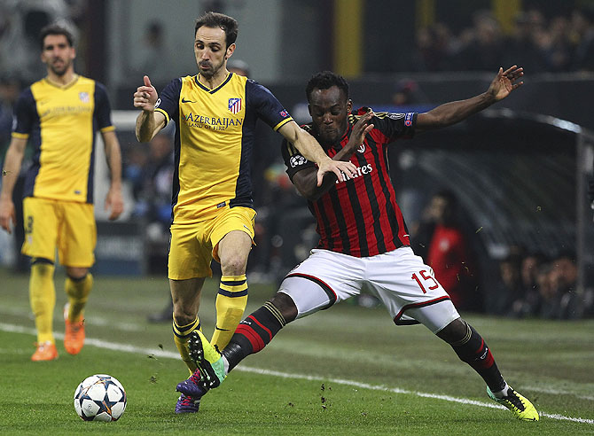 Michael Essien in action against Atletico Madrid
