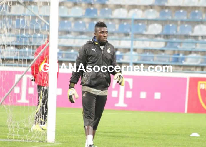 Goalkeeper Stephen Adams in Black Stars training