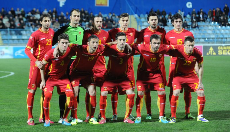 Montenegro's starting line-up which beat Ghana 1-0 in Podgorica.