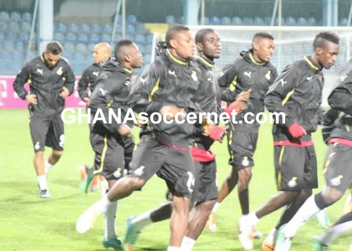 Black Stars in training ahead of Montenegro friendly clash