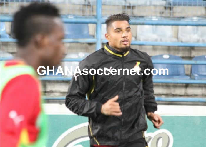 Kevin-Prince Boateng in Black Stars training