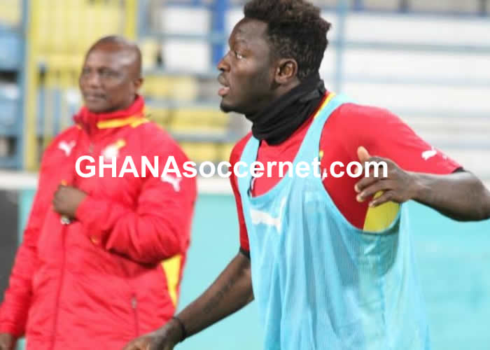 Sulley Muntari in Black Stars training