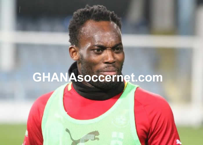 Michael Essien in Black Stars training