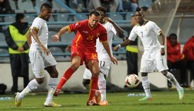 Ghana playing against Montenegro