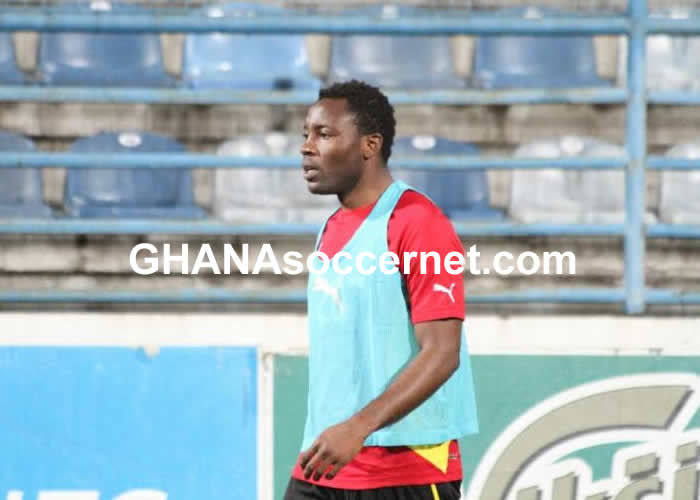 Kwadwo Asamoah in Black Stars training
