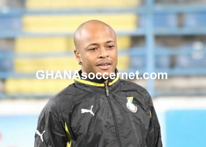 Andre Ayew in Black Stars training