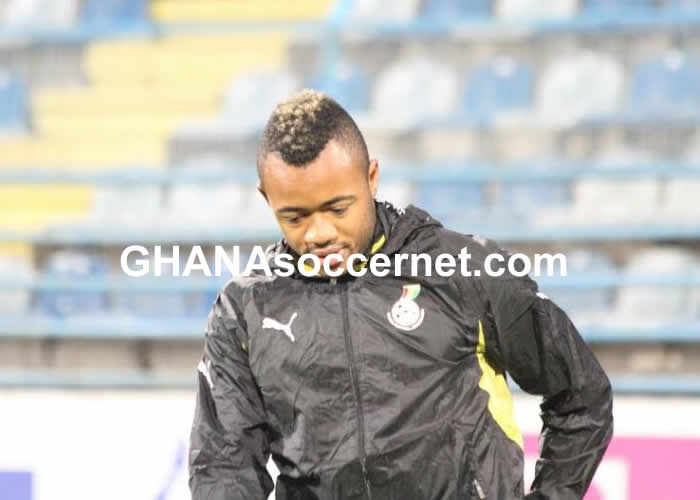 Jordan Ayew training with the Black Stars