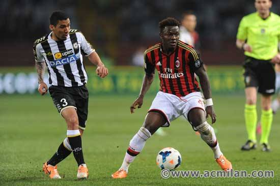 Muntari came off the bench to play against his former side