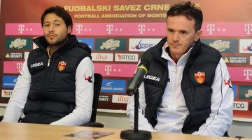 Branko Brnovic (left) is coach of Montenegro