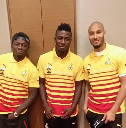 Stephen Adams, middle, has been selected along with Kwarasey, Fatau and Daniel Agyei