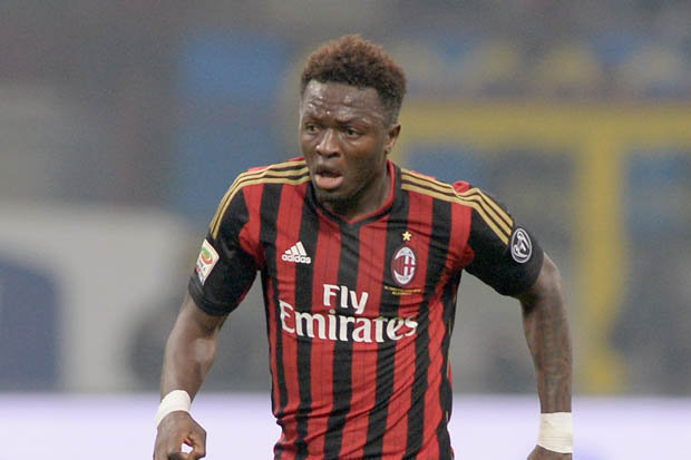 Sulley Muntari was taken off a minute to halftime