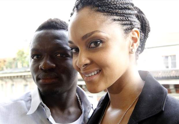 Sulley Muntari with wife Menaye
