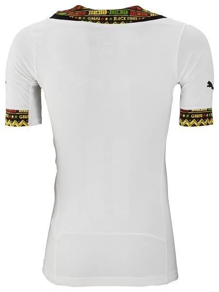 Asamoah Gyan in Ghana's latest kits
