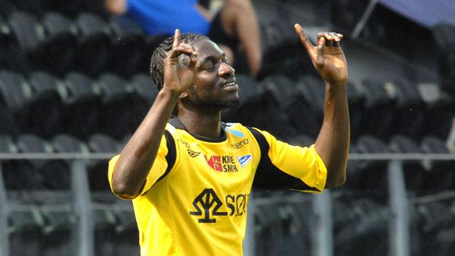 Winger Ernest Asante scored for IK Start on Saturday