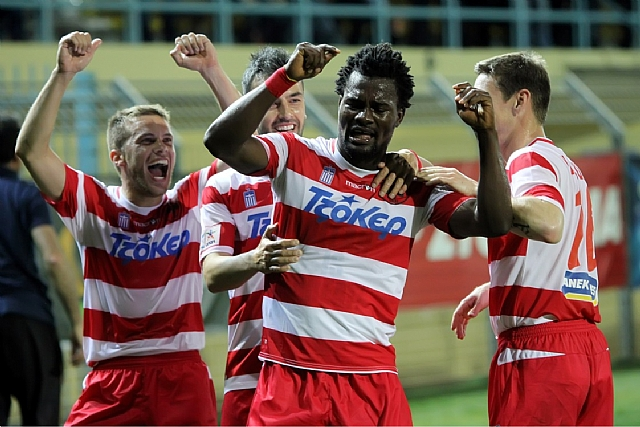 VIDEO: Abdul Aziz Tetteh's consolation goal for Platanias in Greece