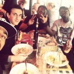 Kevin-Prince Boateng had lunch with Ghana teammates before joining Black Stars camp for Montenegro friendly