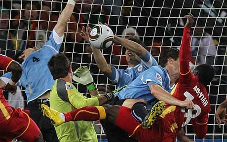 "Uruguay superstar Luis Suarez has again defended his infamous handball against Ghana at the 2010 World Cup insisting ""I did nothing evil to anyone."""