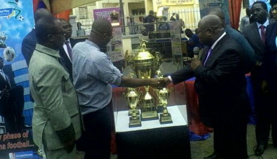 The New Ghana Premier League trophy was handed over to the FA on Monday