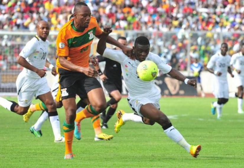 Majeed Waris in action for Ghana against Zambia.