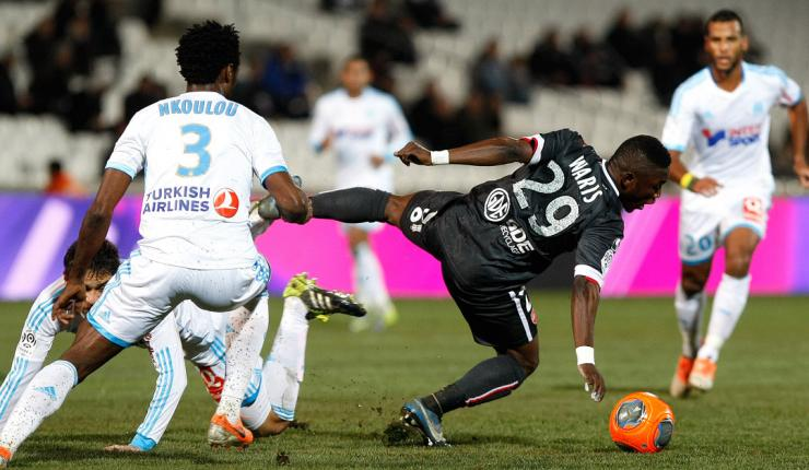 Abdul Majeed Waris in action for Valenciennes.