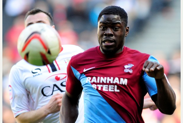 Alabi in action for Scunthorpe