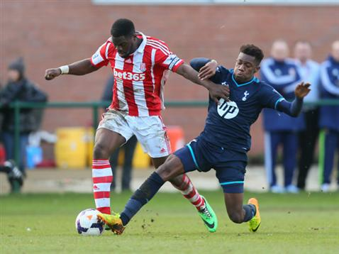 Alabi in action for Stoke U21