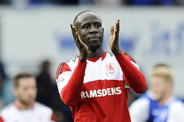 Albert Adomah set up a goal for Middlesbrough