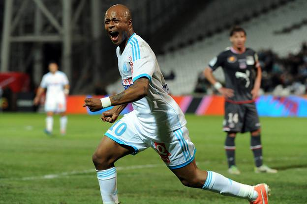 Andre Ayew was in action for Marseille on Friday night