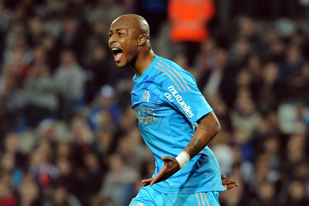 Andre Ayew was influential in Marseille's victory over Montpellier