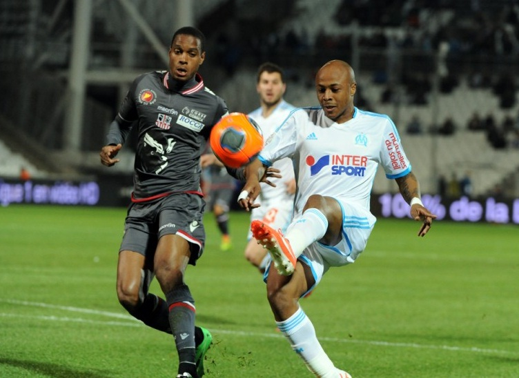 Andre Ayew's hat-trick has helped to become Marseille's third top-scorer