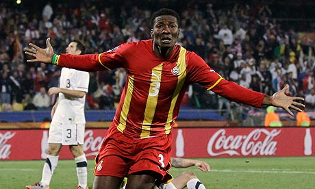 Black Stars captain Asamoah Gyan will fight his team-mates Kwadwo Asamoah and Sulley Muntari for Ghana's Best Footballer of the Year award.