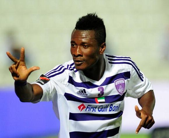 Asamoah Gyan scored a brace for Al Ain in the Asian Champions League
