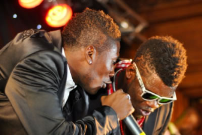 Asamoah Gyan with Castro