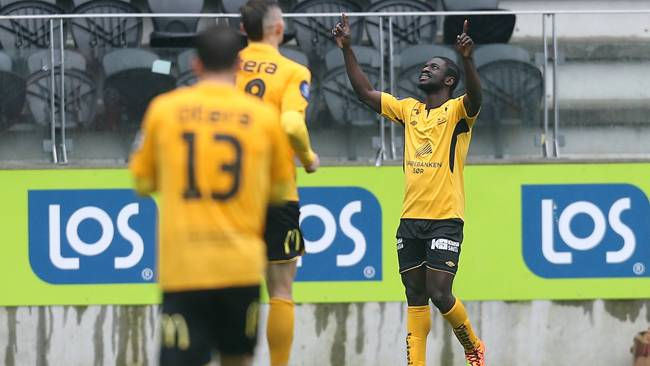 Ernest Asante scored twice for IK Start on Sunday but they lost 3-2 against champions Stromsgodset