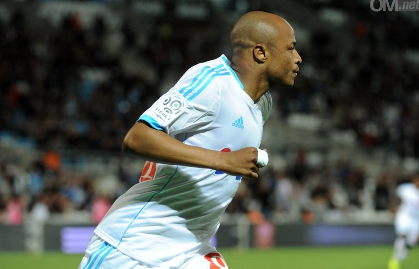 Andre Ayew bagged a hat-trick for Olympique Marseille