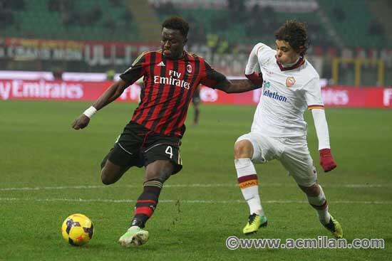 Muntari was Milan's second best performer on the night