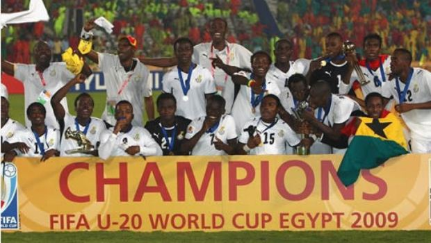 Ghana's victorious 2009 team which won the FIFA U20 World Cup.