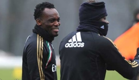 Both Essien and Muntari took minimal part in Milan's training session on Wednesday