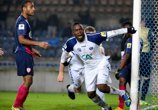 Brian Amofa scored for Strasbourg in the French third-tier on Friday evening