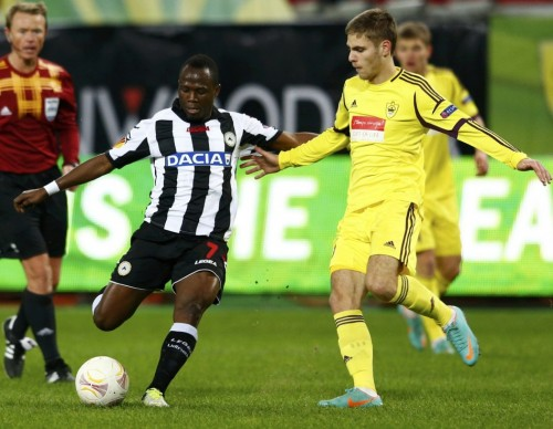 Emmanuel Agyemang-Badu is urging Udinese to keep pace after holding Napoli