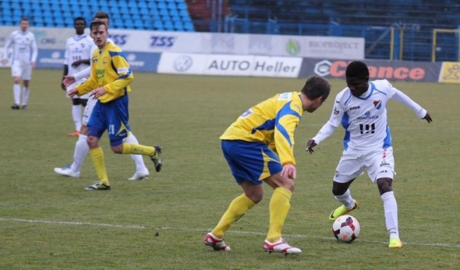 Francis Narh was in action for Ostrava