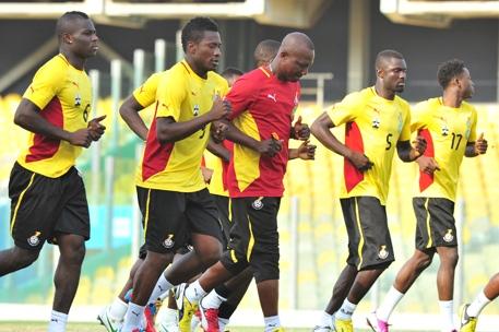 Ghana Black Stars team in training
