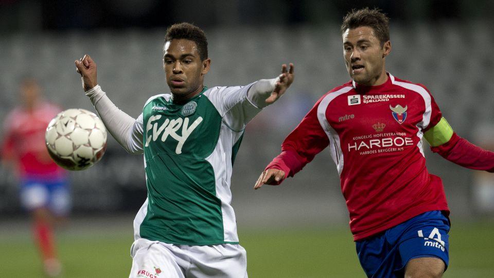 Kevin Mensah scored for Viborg in the Danish top-flight