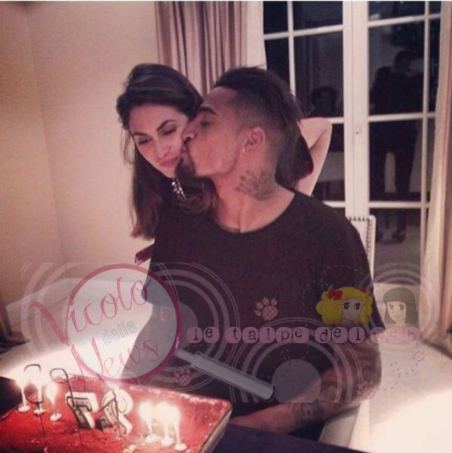 Kevin-Prince Boateng expressing his affection to fiance Melissa Satta