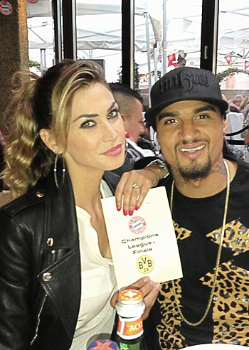 Kevin -Prince Boateng and Melissa