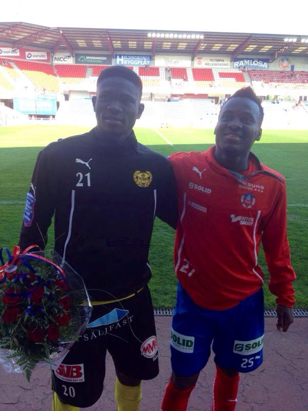 Kwame Bonsu, left with David Accam, won the MVP